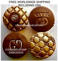 Gucci fondant stamp, Gucci cupcake, Gucci cookie, Gucci embosser, free worldwide shipping